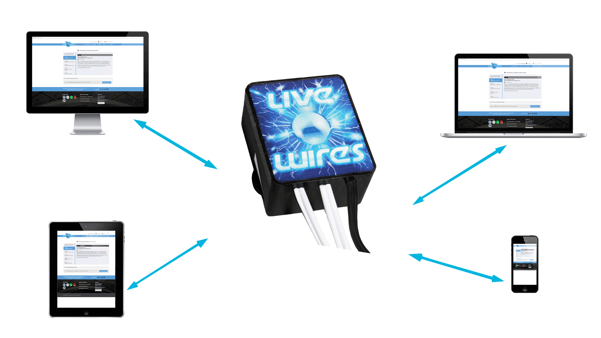 The Live Wires Rife machine that accepts multiple frequency inputs